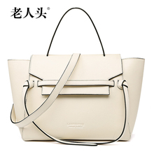 LAORENTOU famous brands women bag genuine leather bag Top Quality fashion women handbags shoulder Messenger Bags Grey White