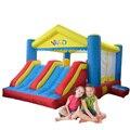 Yard doble diapositiva casa de brinco inflables castillo hinchable para los niños fiesta de cumpleaños oferta especial para asia