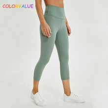 Colorvalue Trousers Cpari-Pants Cropped Athletic Gym Fitness Plain Yoga-Sport Women Naked-Feels