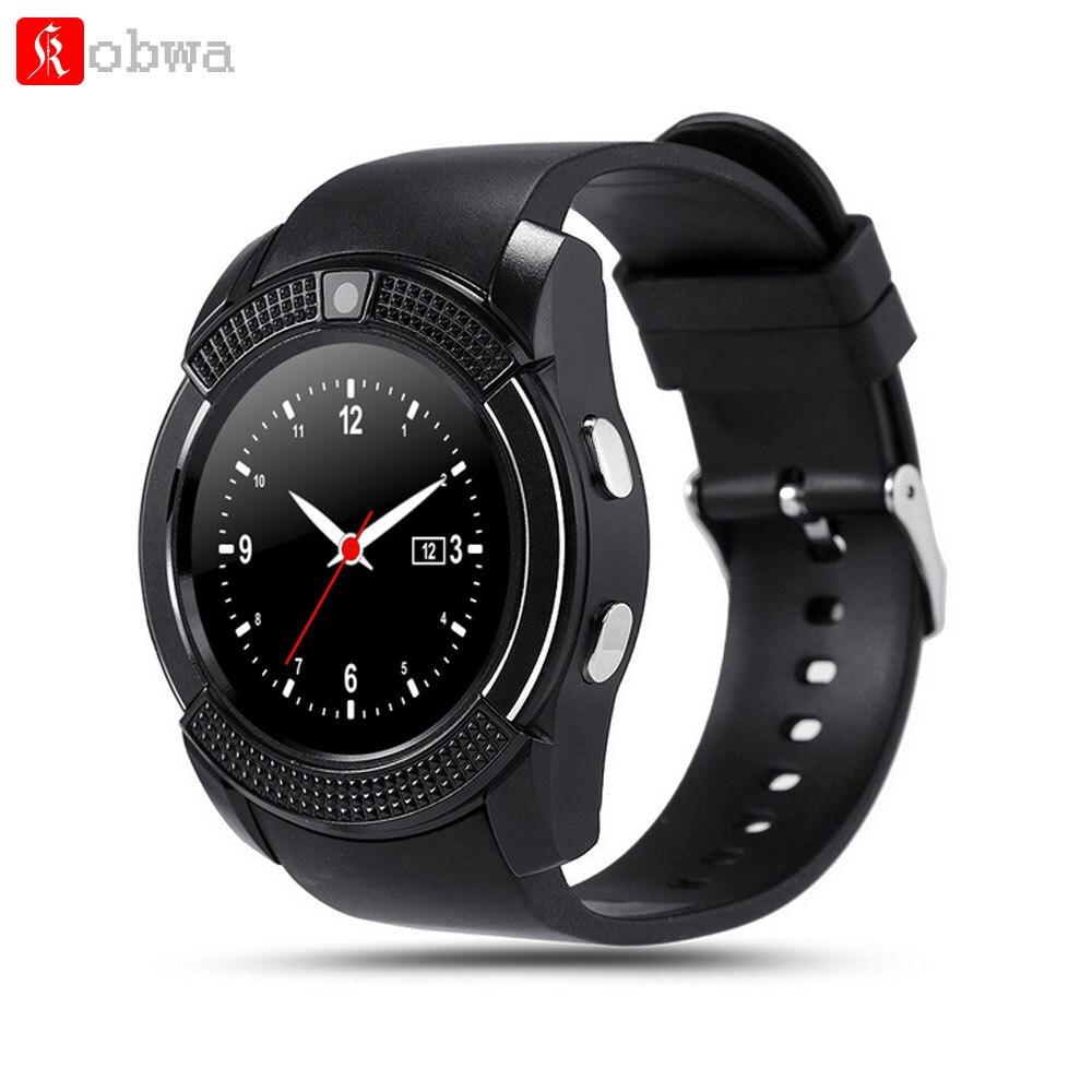 Kobwa V8 deporte Smart Watch Anti-lost Smartwatch soporte SIM TF Tarjeta de reloj Cámara llamada recuento dormir recuerda para el teléfono Android