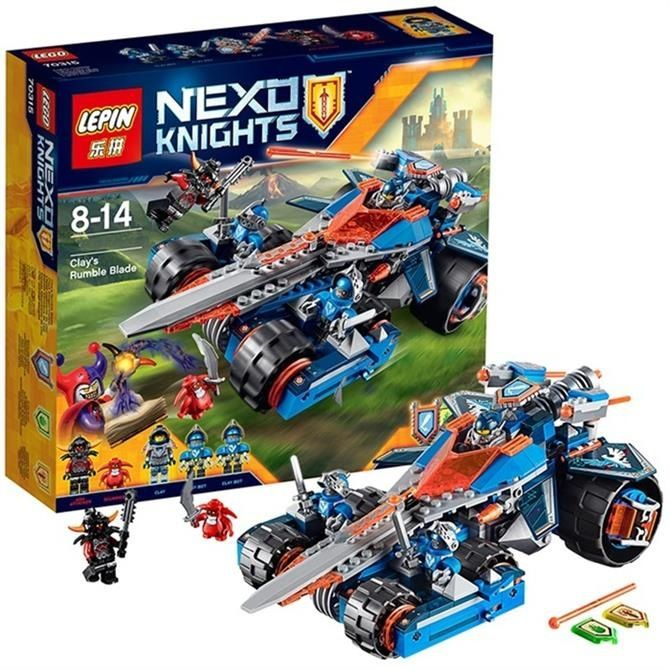 Model building kits compatible with lego Nexus Knights Clay's Rumble Blade Jestro Clay3D blocks Educational model building toys 10518 8017 nexus knights siege machine model building kits compatible with lego city 3d blocks educational children toys