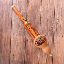 Hulusi – flûte traditionnelle chinoise en bambou, gourde naturelle, ethnique, professionnelle, clé C, pour amoureux des Instruments à vent, 1 pièce