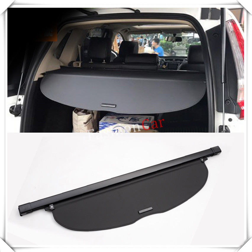 For HONDA for CRV CR-V 2017 2018 Rear Trunk Security Shield Cargo Cover Accessories car styling accessories 1 set black rear trunk cargo privacy cover shield parcel shelf cargo cover for mazda cx 5 2nd gen 2017 2018 car styling