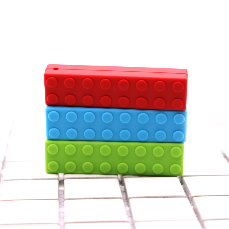 Silicone Teething 1pcs Legos Baby Natural DIY Pendant Silicone Teether Baby Nursing Necklace Silicone Cookies