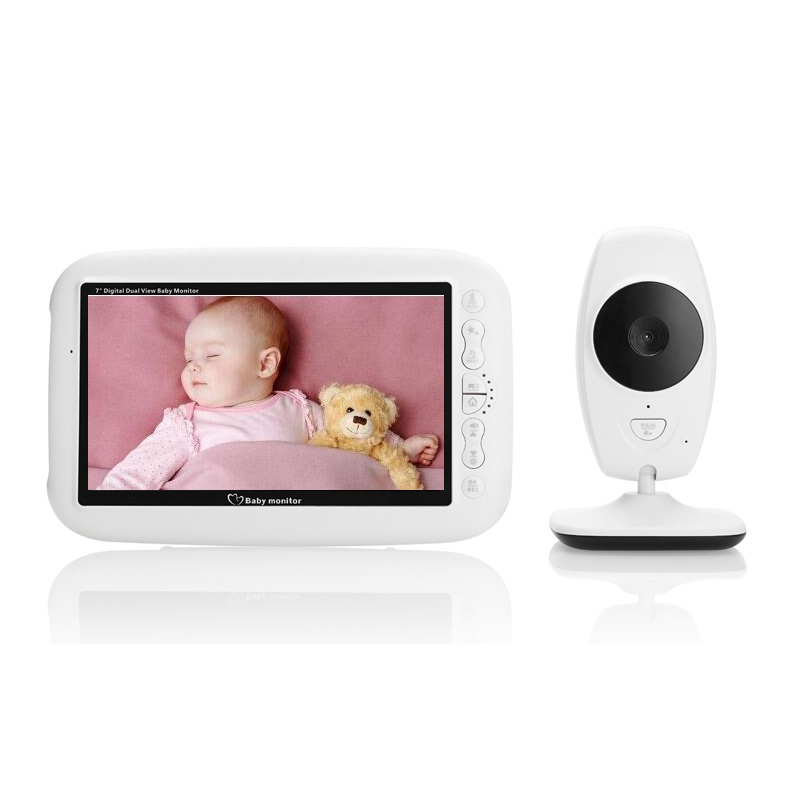 babykam baby monitor with camera 7.0 inch LCD baby phone IR night light vision Intercom Lullaby Temperature Sensor cry baby cam