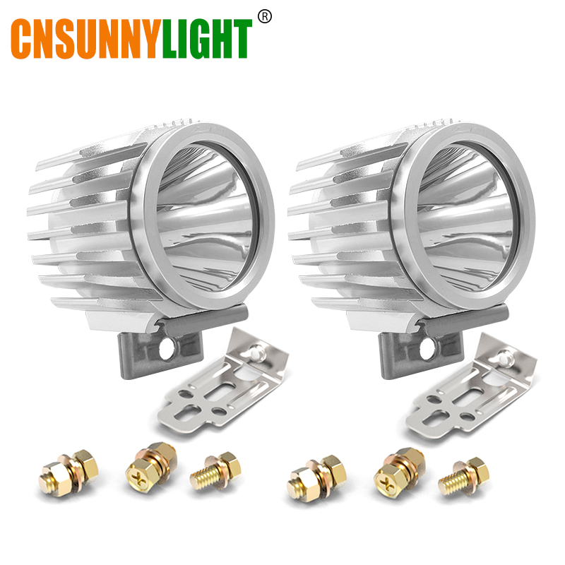 CNSUNNYLIGHT 2pcs Waterproof Motorcycle LED Spotlight Headlight 6W 1000Lm XML-T6 White Scooter/Bike Aluminum Fog DRL Headlamp sitemap 17 xml