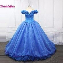 Роскошные пышное свадебное платье Золушки синего цвета бальное, свадебное платье мусульманское свадебное платье Свадебное платье vestido de noiva