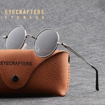 19cc3b018b Gafas de sol redondas polarizadas metálicas a la moda para hombres y  mujeres gafas de sol Retro Vintage John Lennon