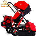 Baby cars can be sitting on a multifunctional high landscape baby car light and light folding explosion-proof tires