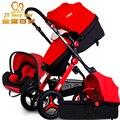 Carros de bebê pode estar sentado em um multifuncional de alta paisagem luz e dobrável luz de carro do bebê à prova de explosão-pneus
