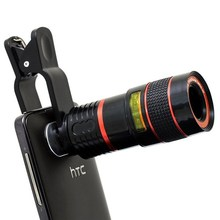 Wholesale prices TOP SELLING 8x Zoom Telescope Telephoto Camera Lens for Samsung S 4 5 6 7 Note 4 5 iphone 4 5 5S 5C 6 6S 7 7 Plus Mobile Phone