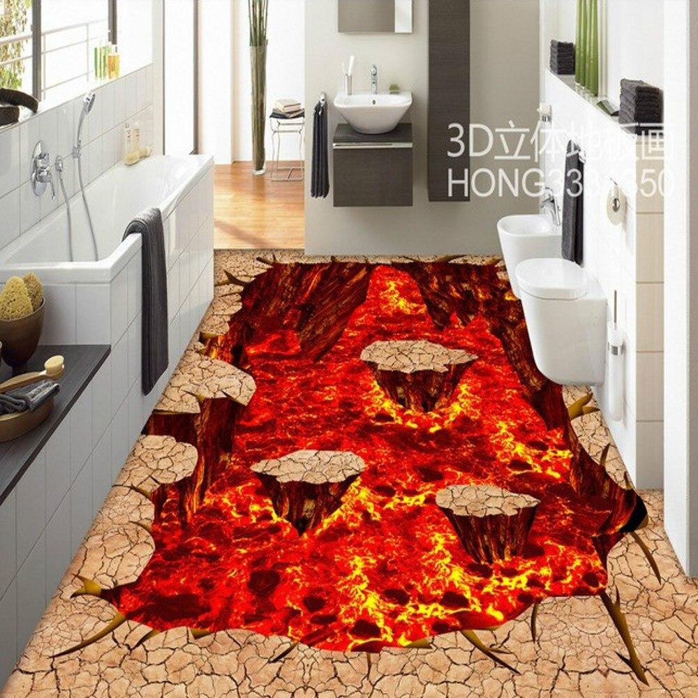 Free shipping custom stereo volcanic lava street park 3d for Lava parquet