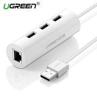 Ugreen USB 2 0 Ethernet 10 100 Mbps Rj45 Network Card Lan Adapter 3 Port USB