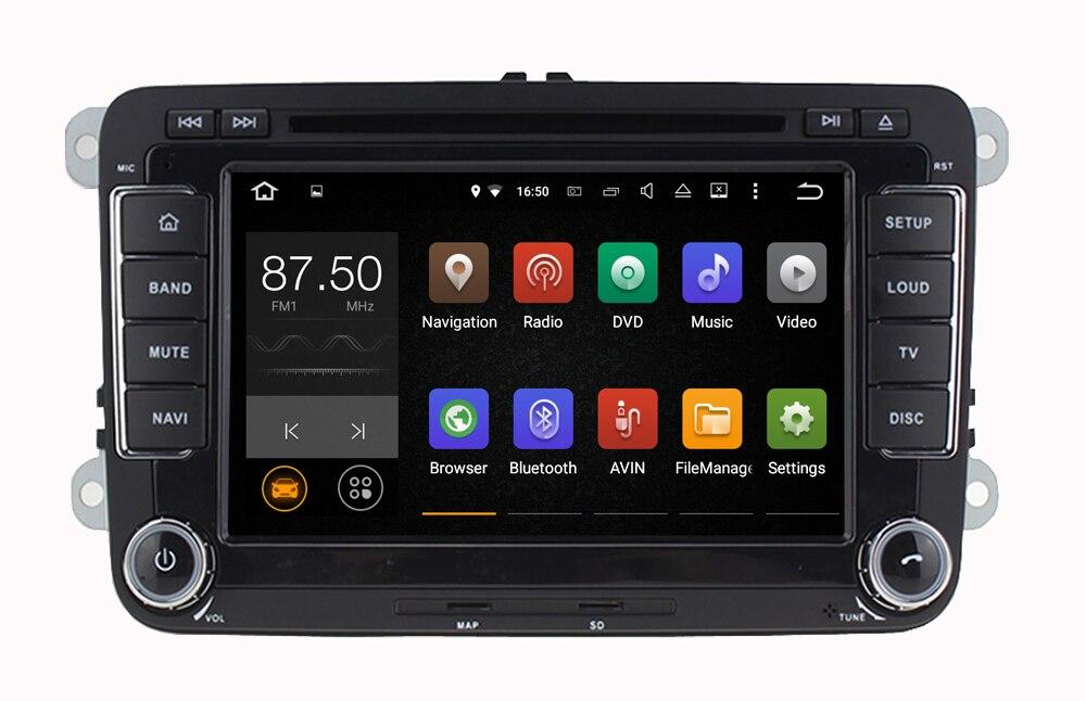 7 pouce Android Voiture Lecteur DVD Radio GPS stéréo pour Volkswagen VW golf 6 touran passat B7 sharan Touran polo tiguan seat leon