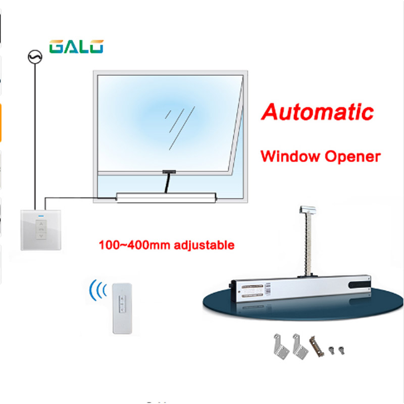 Small Intelligent WiFi Window Opener 100 ~ 400mm Chain With Remote Control Automatic Window Opener Home Open Drive