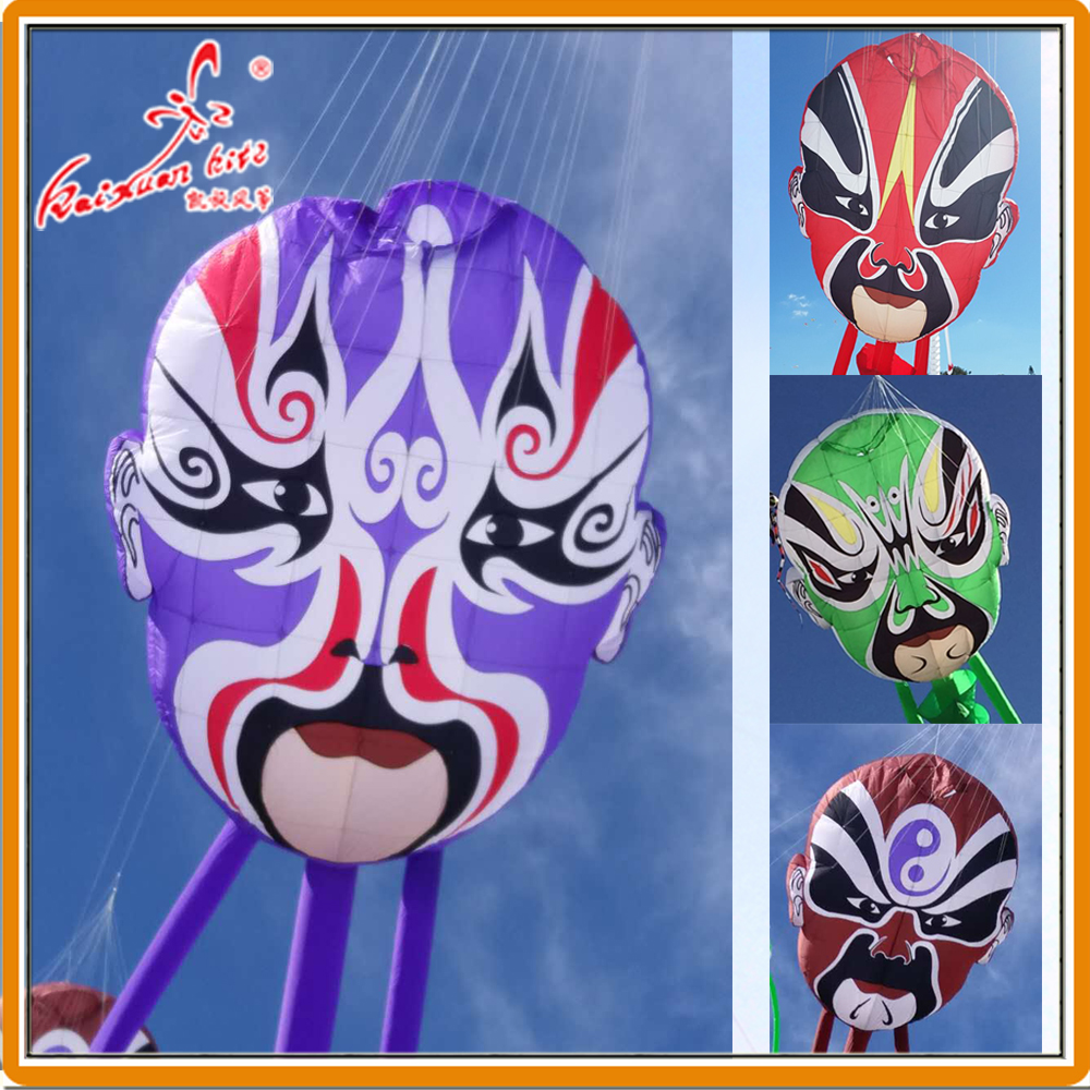 2 5 3m Peking Opera Mask Line Laundry inflatable show kite from Weifang kaixuan kite factory