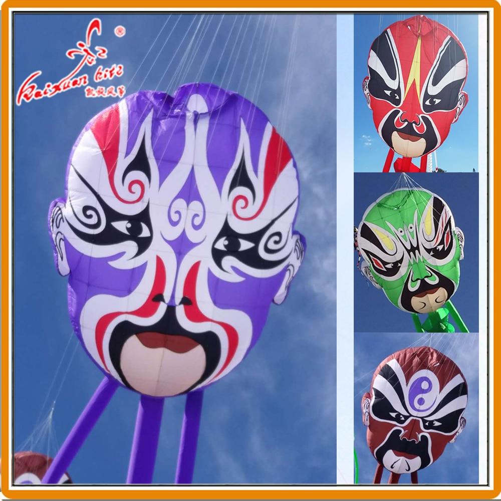 2.5*3 m Peking Opera maska linia pralnia, nadmuchiwany latawiec pokazowy z Weifang fabryki latawca kaixuan w Latawce i akcesoria od Zabawki i hobby na  Grupa 1