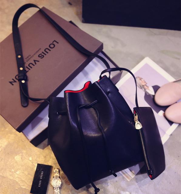 2016 El Más Nuevo M Bucket Bag Gavriel Todo-Fósforo de Las Mujeres de LA PU Bolso de Mano de Cuero Superior Famoso Diseñador Bolso Del Cruz-Cuerpo compuesto bolsa