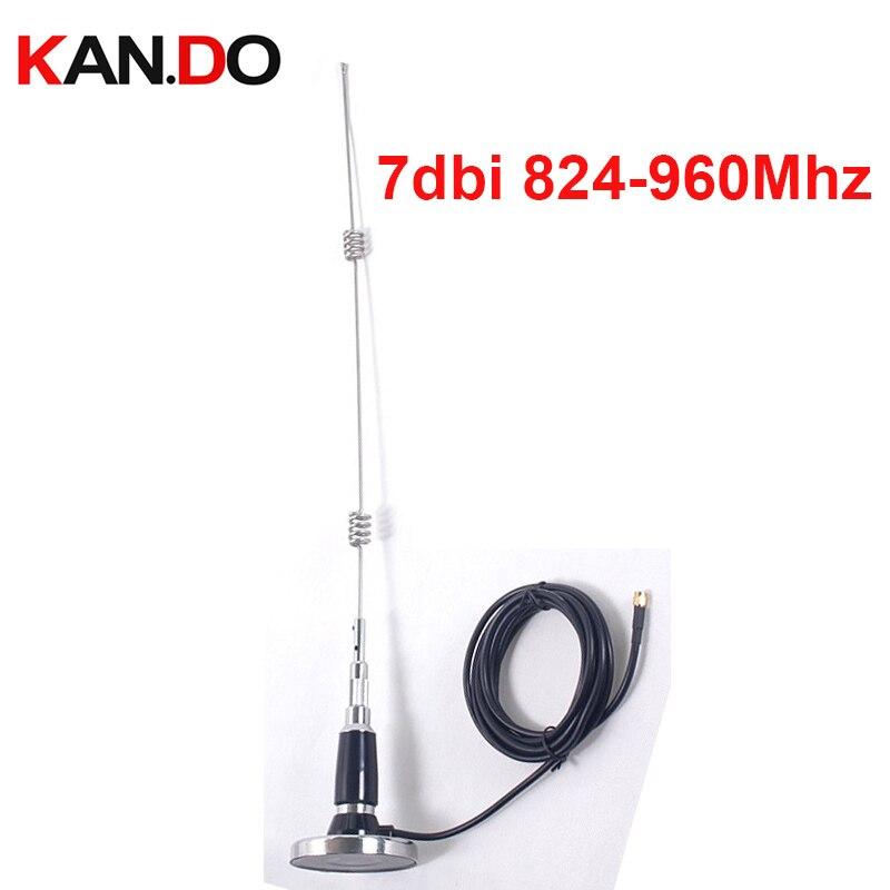 824-960 mhz gain 7dbi antenne GSM w/3 mètres câble et cupule magnétique ventouse 900 Mhz antenne omni antenne répéteur GSM