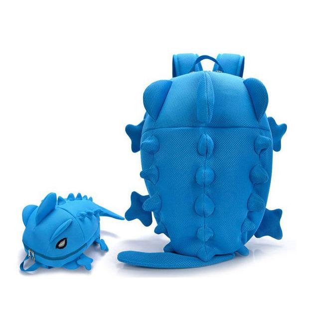 Diseñador de Las Mujeres Mochilas Dinosaurio monster mochila Animal de la Historieta Del Bolso de Escuela De los Muchachos Adolescentes Niñas Camaleón Lagarto