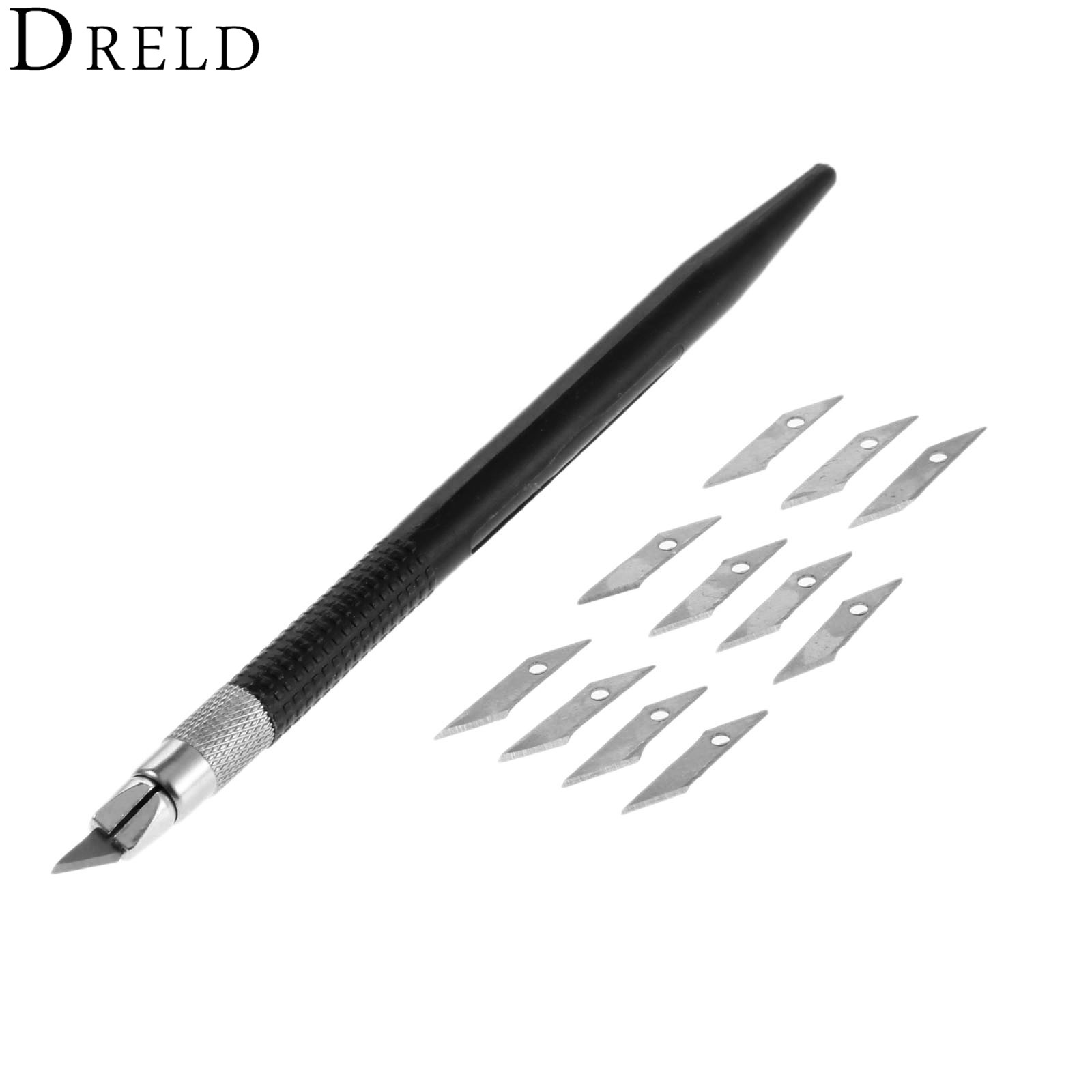 Dreld 12 Pcs Blades Hobby Knife Cutter Leather Diy Tools