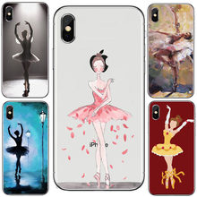 Sexy Ballet Dancing Girls Ballerina Ballet Shoes Soft Phone case For iPhone X XS MAX XR 5s SE 6s plus 7 8plus case coque(China)