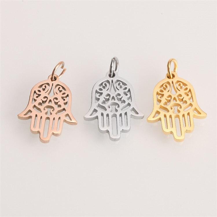 Модные подвески из нержавеющей стали крест сердце геометрические Золотые Серебряные Подвески Изготовление ювелирных изделий DIY ручной работы аксессуаров