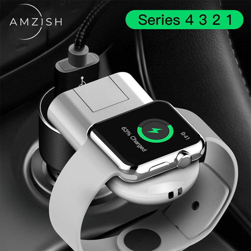 amzish QI Wireless Charger For Apple Watch 4 3 2 1 Magnetic USB Charger For iWatch Series 1 2 3 4 Portable Fast Charging Dock in Mobile Phone Chargers from Cellphones Telecommunications