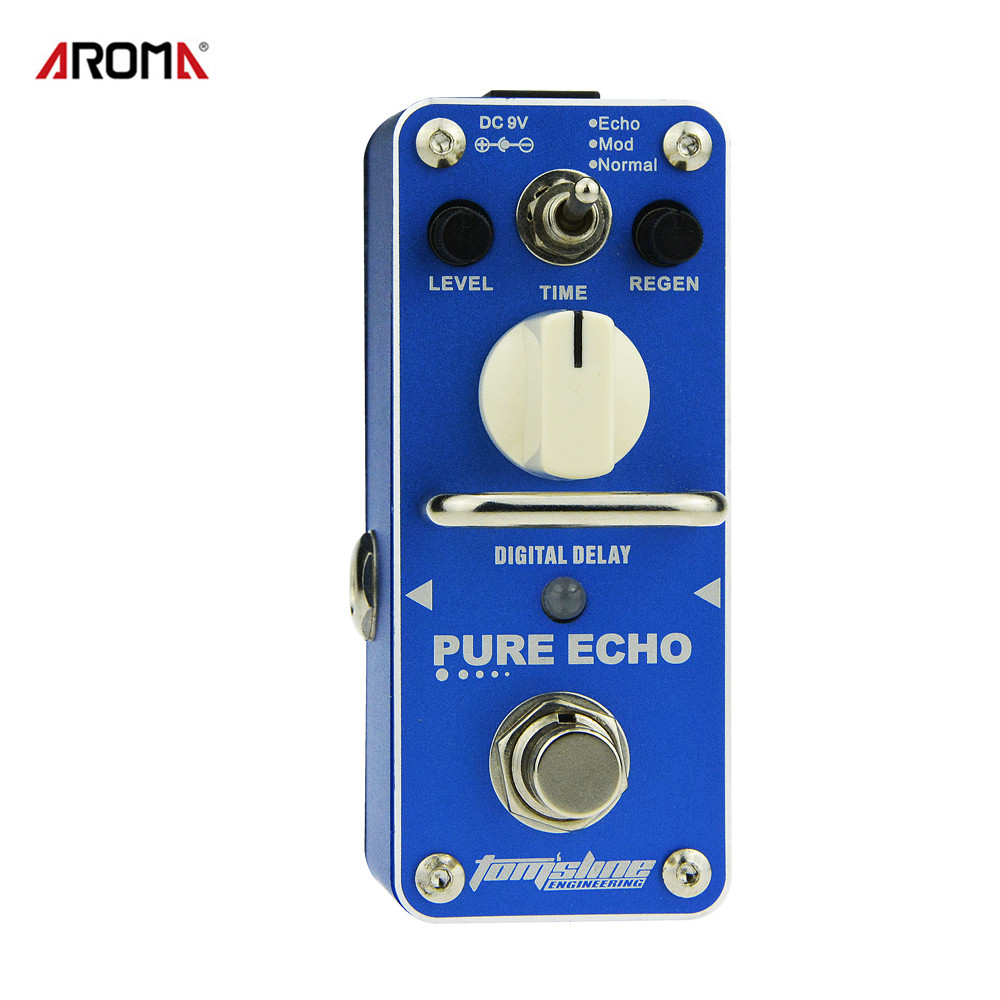AROMA APE-3 Guitar Effect Pedal Pure Echo Digital Delay Electric Guitar Effect Pedal Mini Single Effect with True Bypass aroma tom sline abr 3 mini booster electric guitar effect pedal with aluminum alloy housing true bypass durable guitar parts