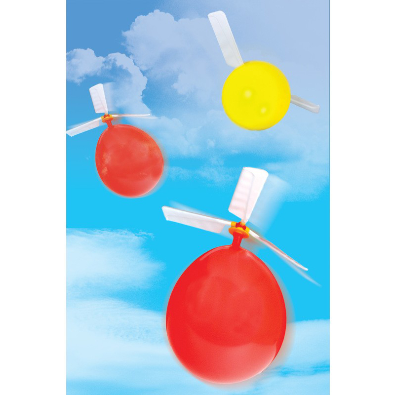 1 set Kids Classic Balloon Airplane Helicopter For Kids Children funny Flying Toy Gift Outdoors toys image