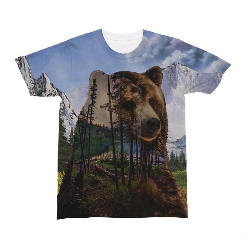 Bear Men Tshirt 3d Camiseta Printed T shirt Funny T-shirt O-neck Top Brand Tees Short Sleeve Camiseta Fighting Print Eu Size