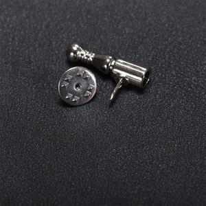 Image 2 - Prata pena broche base pinos diy jóias descobertas acessórios de jóias metal lapela pino base para feminino curto pino