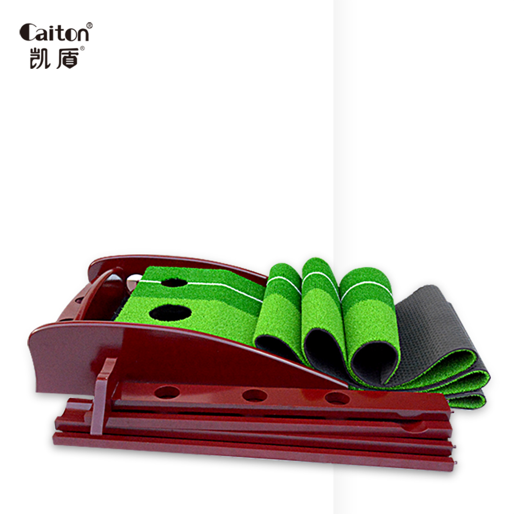 Caiton golf putting green with Wooden base Simulation Shun lawn indoor sport Golf Putting practice Trainer стоимость