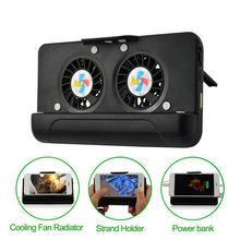 Handy Kühler, usb Kühlung Dual-Fan Kühler/Stand Halter/Power Bank Mit 4400Mah Akku Für Iphone Smart Ph