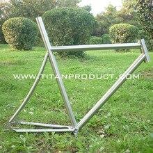 Титановая велосипедная Трансмиссия рама дорожный велосипед рама с интегрированный подседельный штырь