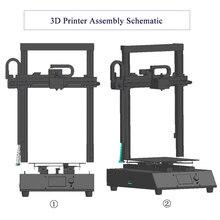 Ortur 3d принтеры сборки пластины 260*310*305 мм с детектором нити/мощность восстановления сбоя/автоматическое выравнивание CE FCC OEM заводская цена