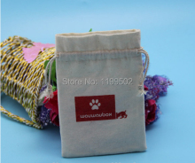 can be custom made jute/linen/flax drawstring jewelry bag for gifts headset Bouquet Garni coffee bean pouchesbags wholesale