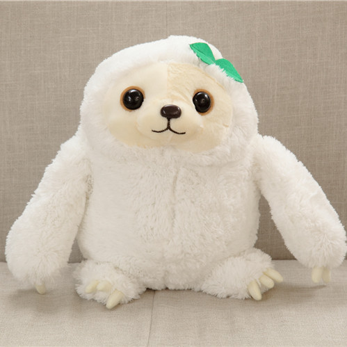 40cm 50cm White color New Arrived Sloth Plush Toy Sloth Soft Stuffed Doll Cute Sloth Plush Gift Simulation Sloth Doll stuffed animal 120 cm cute love rabbit plush toy pink or purple floral love rabbit soft doll gift w2226
