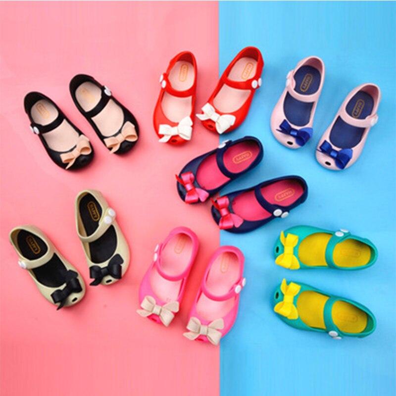 99bb2ccc7c46b 2018 Nouveau Sandales D été Mini Melissa Enfants Chaussures Papillon ...