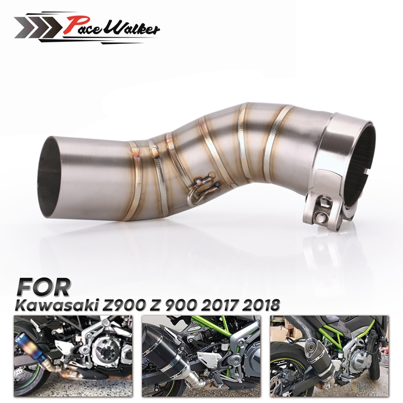 Link-Pipe Exhaust-Muffler Motorcycle-Middle-Pipe Z900 Kawasaki Slip Section for Without