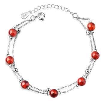 Bracelet Argent Et Cornaline