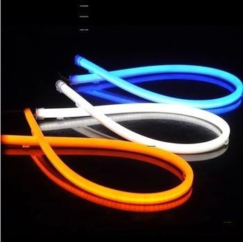 2pcs LED Headlight Strip Single Color 85CM Flexible Bendable Car Angel Eye DRL Head Lamp Tube Styling auto Daytime Running Light 2x45cm led drl diy flexible daytime running light soft article lamp tube car styling strip automobiles waterproof 2pcs