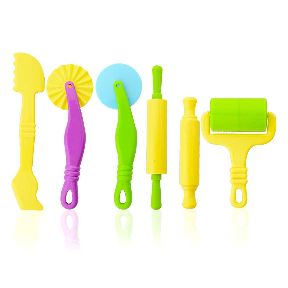6 шт./компл. Для детей Пластилин модель Игрушечные инструменты Пластик 3D Инструменты Набор пластилина Скульптура моделирование Инструменты для детей Подарки