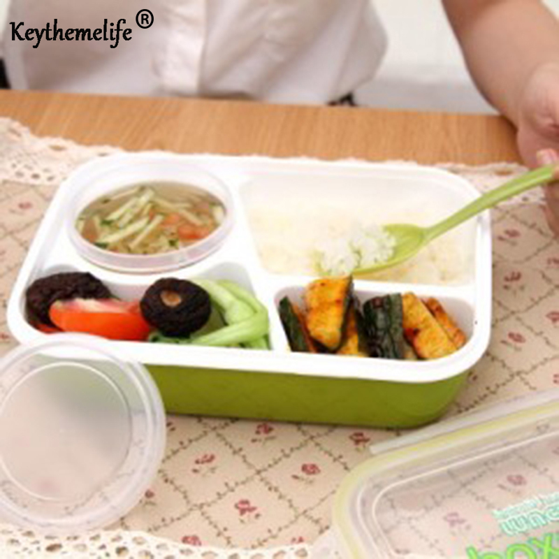 Keythemelife Lunch boxs tableware food container bento Video show with soup bowl children dinnerware DA