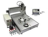 나무 조각 기계 6040 Z-VFD 4 축 1500 w cnc 라우터 금속 드릴링 및 밀링 usb 포트