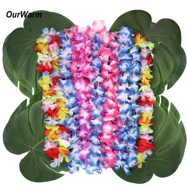 Ourwarm Hawaiian Party Wedding Table Decoration Centerpieces 24 Set