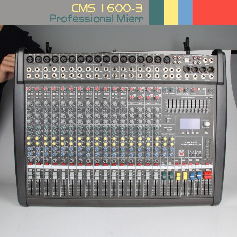 Cms1600-3 Профессиональное аудио Смеситель консоли этап вечерние полоса воспроизведения звука Studio обработки звука