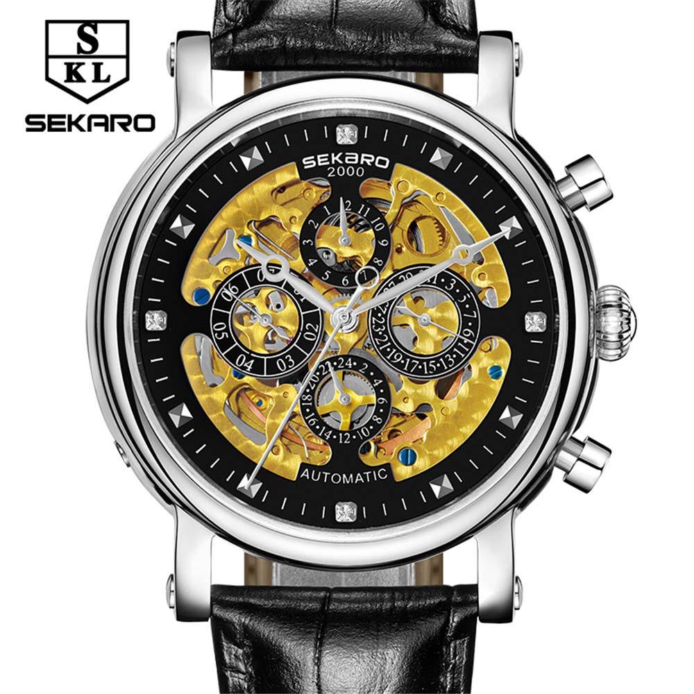 SEKARO para colorear Acero Inoxidable Multifunción 7 pines Relojes - Relojes para hombres - foto 1