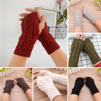 Rękawiczki damskie stylowe ręcznie cieplej zimowe rękawiczki damskie robótek na drutach rękawiczki ciepłe rękawiczki bez palców rękawiczki 7 kolorów tanie i dobre opinie Meihuida Women Fingerless Gloves COTTON Poliester Kobiety Moda Dla dorosłych Nadgarstek Stałe Chiny (kontynentalne)