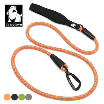 Truelove nylon rope dog pet leash running for medium large dogs Reflective with soft handle walk pet lead rope pet accessories reflective large dog leash nylon rope pet running tracking leashes long lead dog mountain climbing rope for medium large dogs